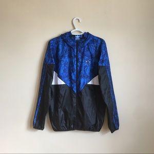 Adidas Originals Jacket, Windbreaker, Blue & Black